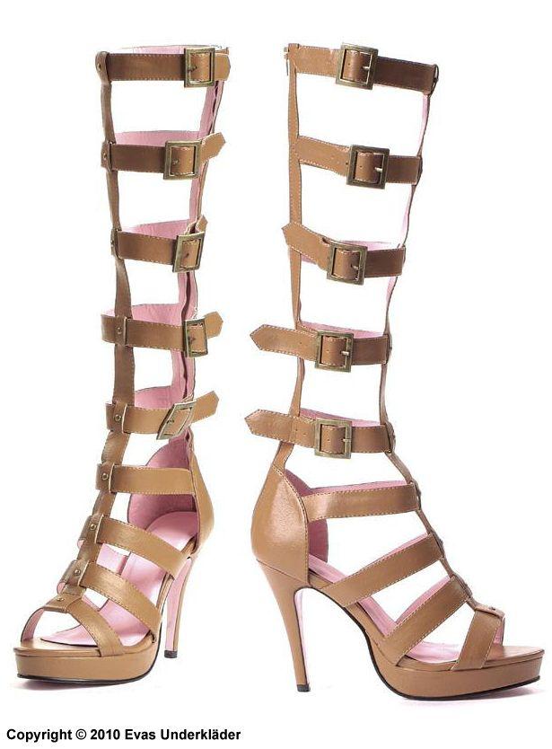 Cleopatra sandaler med klack